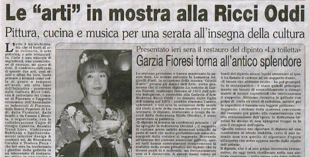 2003年イタリアピアツェンツァにて。